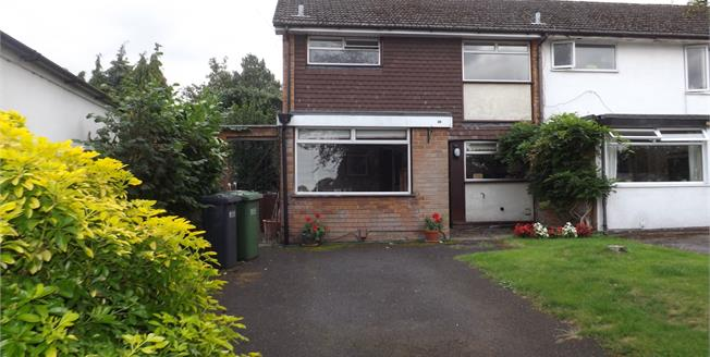 Asking Price £280,000, 3 Bedroom End of Terrace House For Sale in Solihull, B91