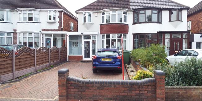 Offers in excess of £220,000, 3 Bedroom Semi Detached House For Sale in Solihull, B92