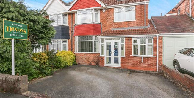 Offers Over £350,000, 4 Bedroom Semi Detached House For Sale in Solihull, B92