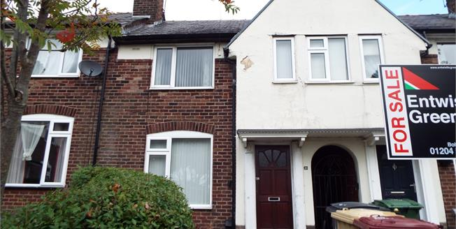 Offers in the region of £75,000, 2 Bedroom Terraced House For Sale in Bolton, BL1