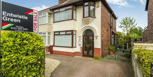 Offers in the region of £160,000, 3 Bedroom Semi Detached House For Sale in Huyton, L36