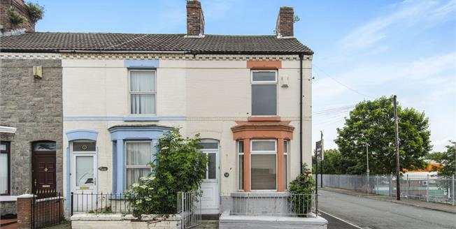 Offers in excess of £77,000, 2 Bedroom End of Terrace House For Sale in Liverpool, L13