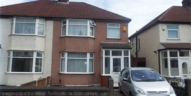 Offers Over £155,000, 3 Bedroom Semi Detached House For Sale in Liverpool, L14