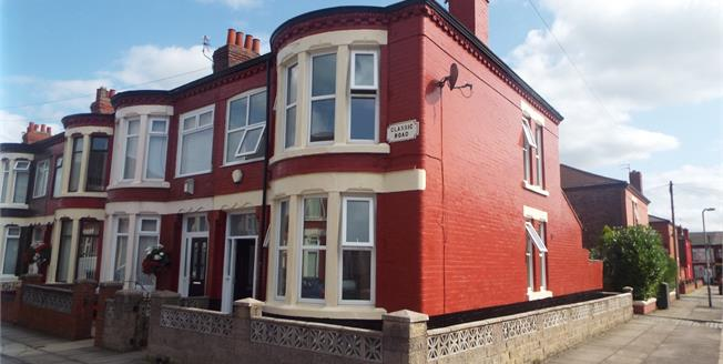 Offers Over £110,000, 3 Bedroom End of Terrace House For Sale in Liverpool, L13