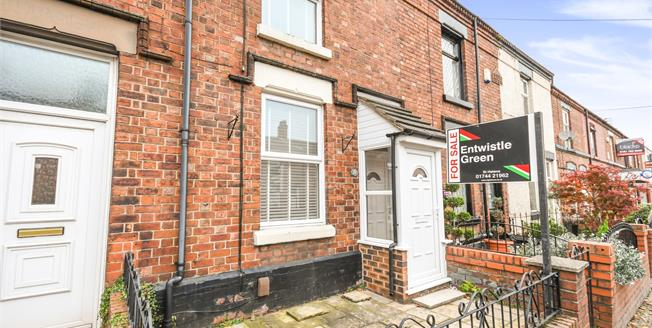 Offers Over £80,000, 2 Bedroom Terraced House For Sale in St. Helens, WA9