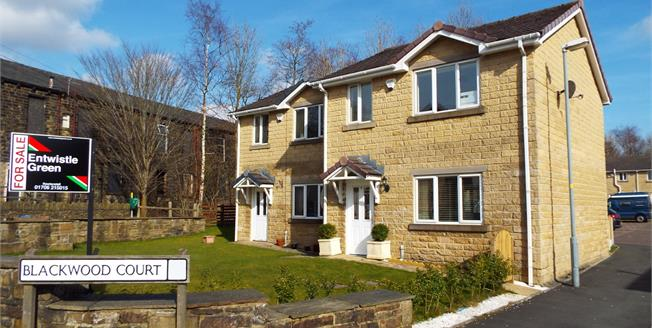 Offers in the region of £99,950, 2 Bedroom Semi Detached House For Sale in Stacksteads, OL13