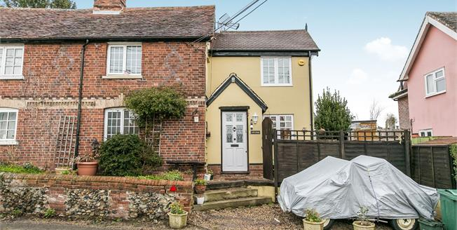 Guide Price £350,000, 3 Bedroom End of Terrace Cottage For Sale in Belchamp Walter, CO10