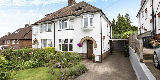Guide Price £500,000, 5 Bedroom Semi Detached House For Sale in Tonbridge, TN9