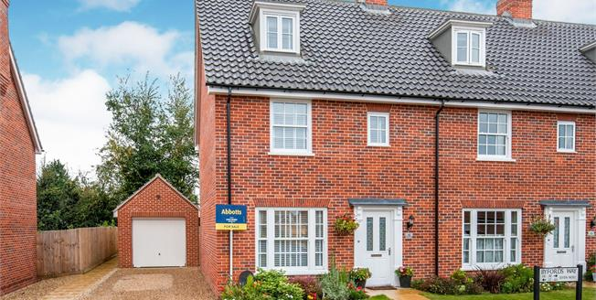 Asking Price £275,000, 3 Bedroom End of Terrace House For Sale in Watton, IP25