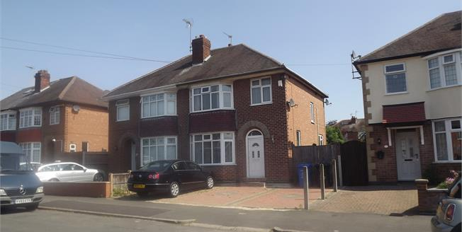 Guide Price £180,000, 3 Bedroom Semi Detached House For Sale in Littleover, DE23