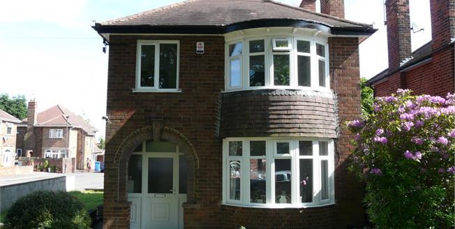 Offers Over £220,000, 3 Bedroom Detached House For Sale in Derby, DE23