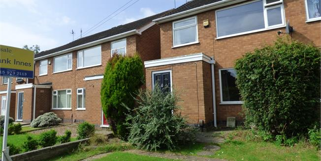 Guide Price £150,000, 3 Bedroom Semi Detached House For Sale in Stapleford, NG9