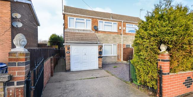Guide Price £140,000, 3 Bedroom Semi Detached House For Sale in Mansfield, NG19