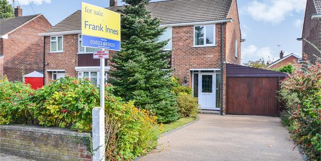Offers in the region of £165,000, 3 Bedroom Semi Detached House For Sale in Rainworth, NG21