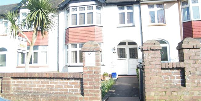 Guide Price £175,000, 3 Bedroom Terraced House For Sale in Paignton, TQ3