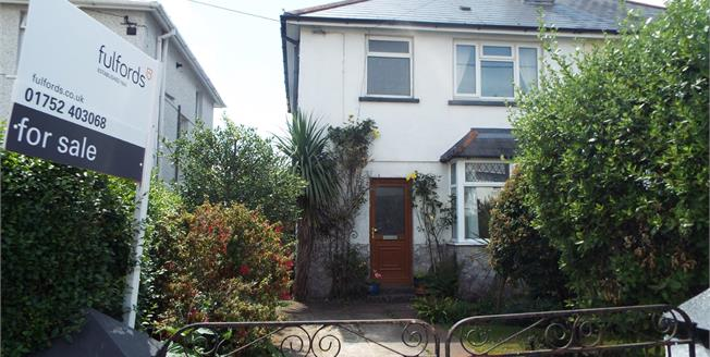 Guide Price £195,000, 3 Bedroom Semi Detached House For Sale in Plymouth, PL9