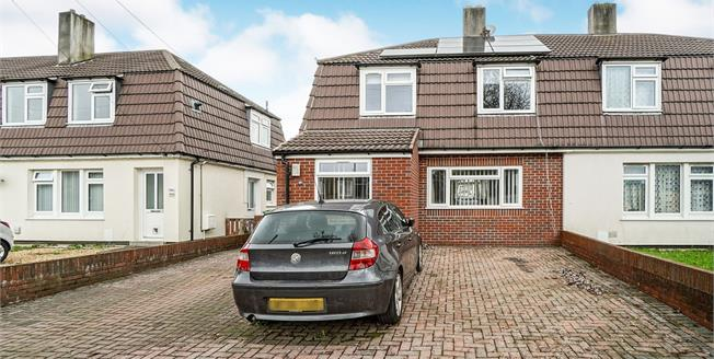 Guide Price £180,000, 3 Bedroom Semi Detached House For Sale in Plymouth, PL5