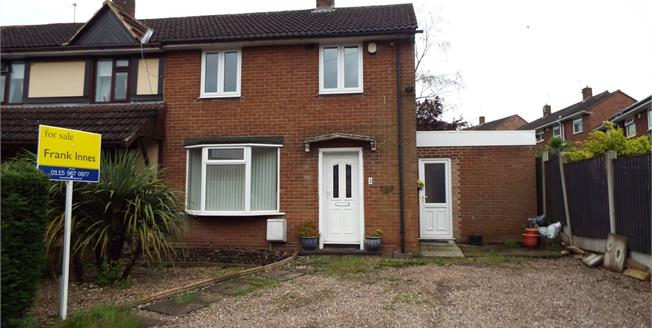 Guide Price £135,000, 2 Bedroom End of Terrace House For Sale in Arnold, NG5