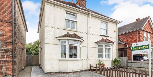 Guide Price £425,000, 2 Bedroom Semi Detached House For Sale in Leatherhead, KT22