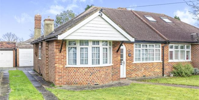 £425,000, 2 Bedroom Semi Detached Bungalow For Sale in Fetcham, KT22