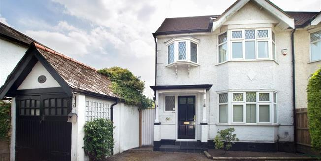 Guide Price £850,000, 4 Bedroom Semi Detached House For Sale in Esher, KT10