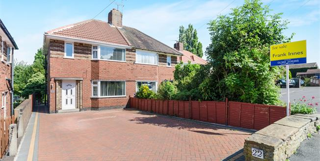 Guide Price £160,000, 3 Bedroom Semi Detached House For Sale in Chesterfield, S40