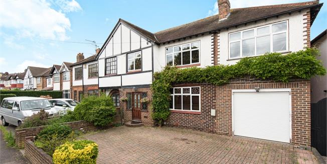 Guide Price £745,000, 5 Bedroom Semi Detached House For Sale in Worcester Park, KT4