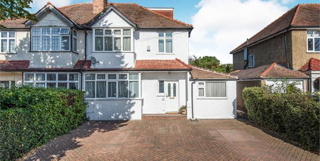 Guide Price £680,000, 5 Bedroom Semi Detached House For Sale in Worcester Park, KT4