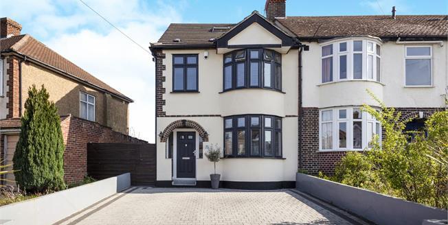 Asking Price £650,000, 4 Bedroom Semi Detached House For Sale in Worcester Park, KT4