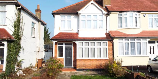 Guide Price £475,000, 3 Bedroom End of Terrace House For Sale in Worcester Park, KT4