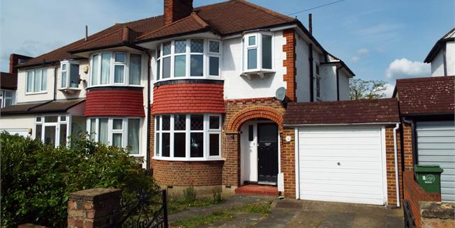 Offers in excess of £539,950, 3 Bedroom Semi Detached House For Sale in Worcester Park, KT4