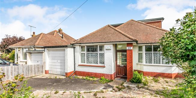 Guide Price £350,000, 3 Bedroom Detached Bungalow For Sale in Lancing, BN15