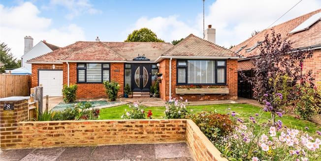 Asking Price £395,000, 2 Bedroom Detached Bungalow For Sale in Worthing, BN13